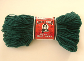 Make it With Aunt Lydia's Heavy Rug Yarn - Vintage Knitting
